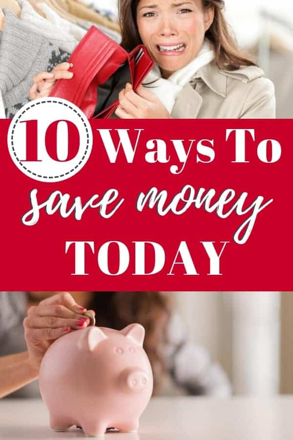 These 10 money saving hacks will have show you how to save money on a tight budget today!