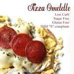 Pizza Omelette (Low Carb, Sugar Free, THM S)