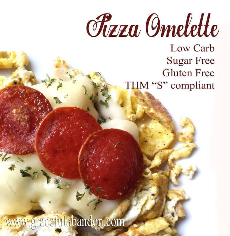 pizza omelette pepperoni eggs breakfast thm low carb