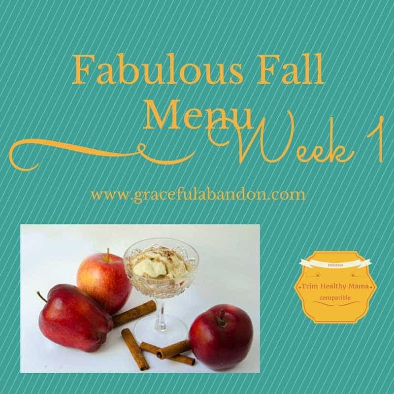 Fabulous Fall Menu Plan, Week 1