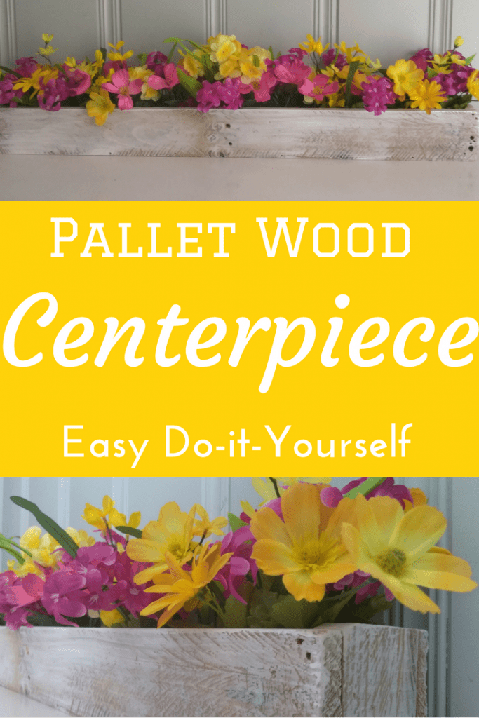 DIY, centerpiece, pallet wood