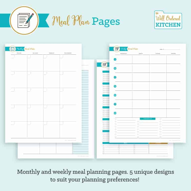Meal Planning Pages