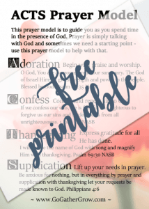 ACTS prayer model for how to find time to pray effectively