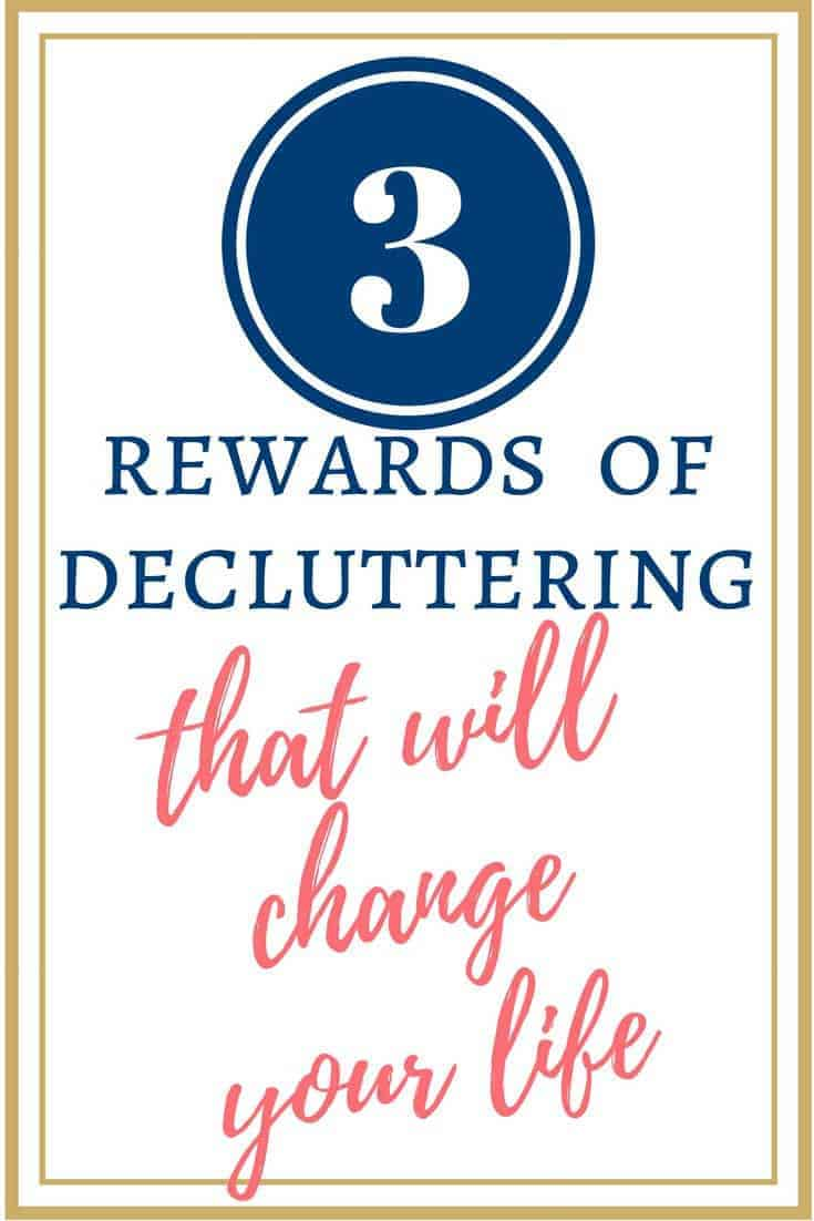 When you walk into a room & see stuff, it's overwhelming & confuses your purpose. You forget why you're there, or what you want to do. You forget who you want to be & what you want your life to look like. That's what clutter does. BUT decluttering has so many rewards! These 3 are the best.
