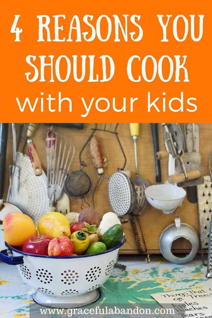 Did you know that cooking with your kids is important? Get your children in the kitchen and not only will they learn to cook, but you will have quality time with your children and make a lot of memories. Here are 4 reasons cooking with your kids is important.
