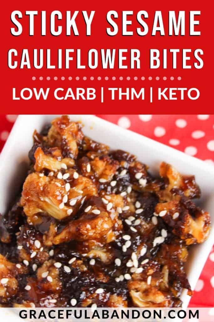 Low Carb Sticky Sesame Cauliflower Bites