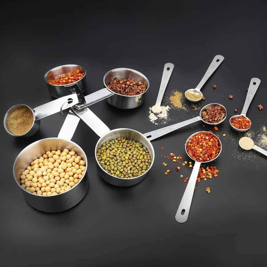 Stainless Steel Measuring Set for the THM Kitchen. Check out Graceful Abandon's full list of essential kitchen tools.