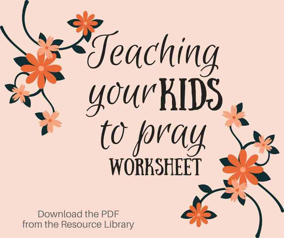 teaching your kids to pray, graceful abandon printable