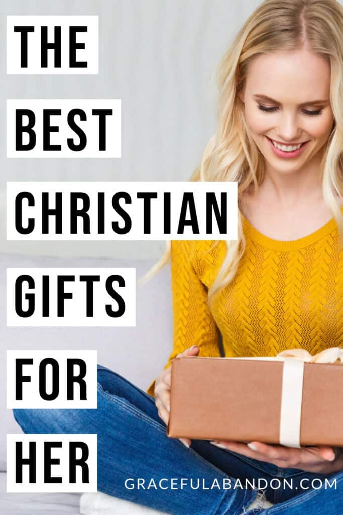 best Christian gifts for her article with Christian woman opening gift