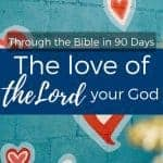 the love of the Lord your God