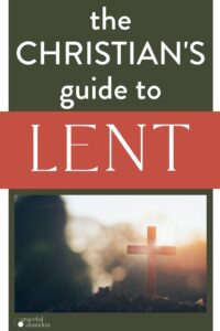 """text over image """"the Christian's Guide to Lent"""""""