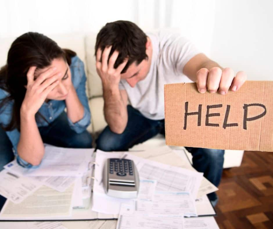 couple frustrated over finances asking for help