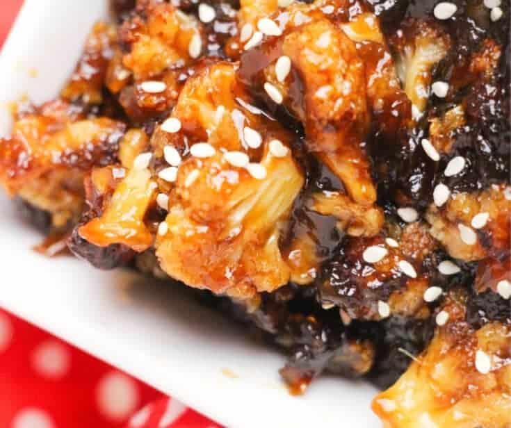 The Best Low Carb Crispy Sticky Sesame Cauliflower Bites