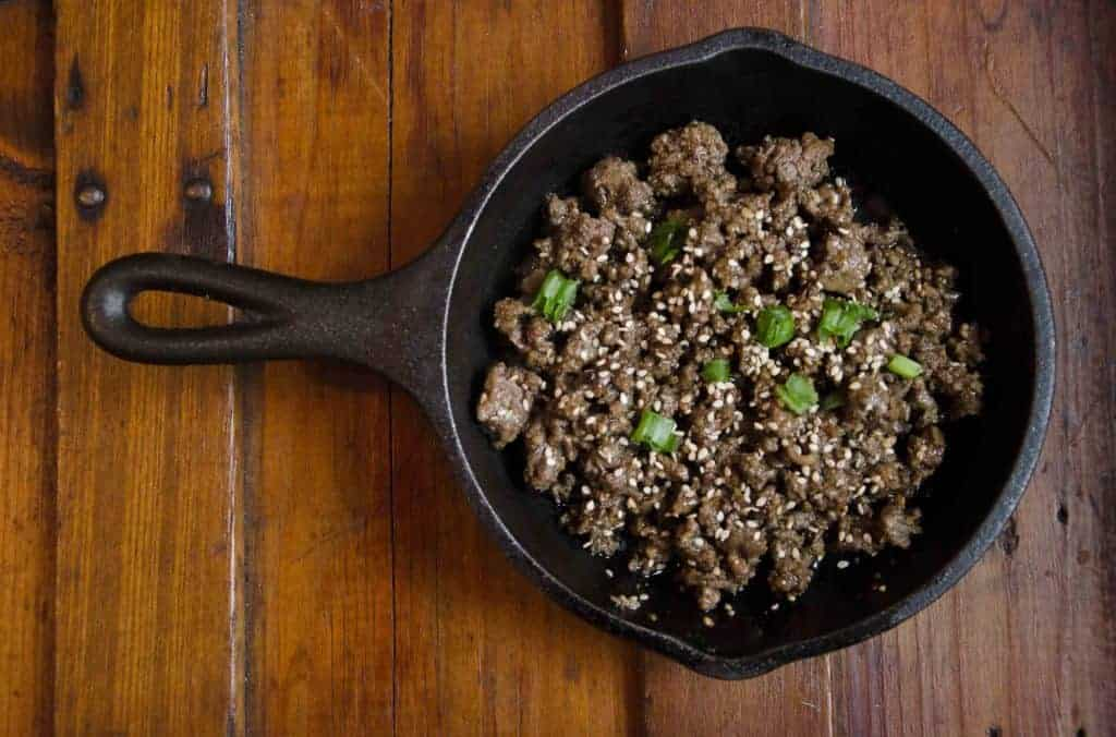 easy sugar free korean beef bulgogi THM skillet graceful abandon