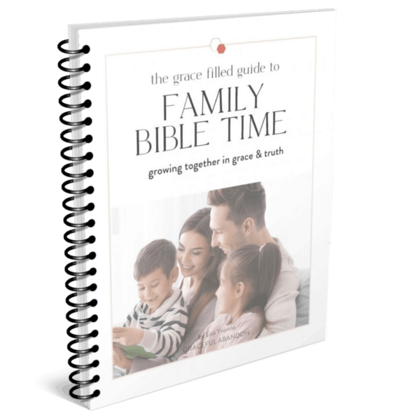 mock up of printed family bible time guide