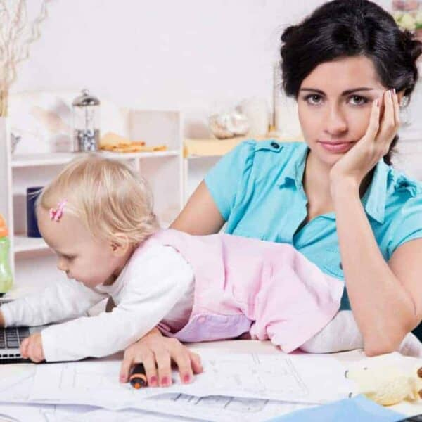 Ever wonder how to get stuff done with kids at home? Try these 5 tricks.