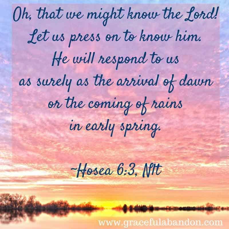 Hosea 6:3 quote