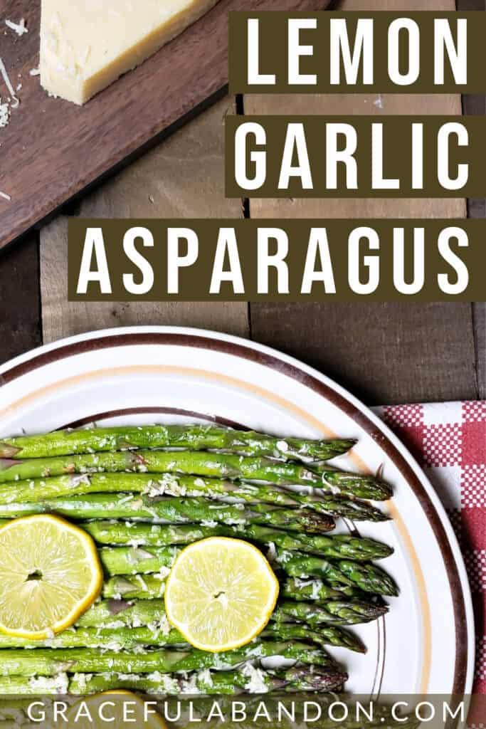 roasted lemon garlic asparagus with parmesan low carb side dish