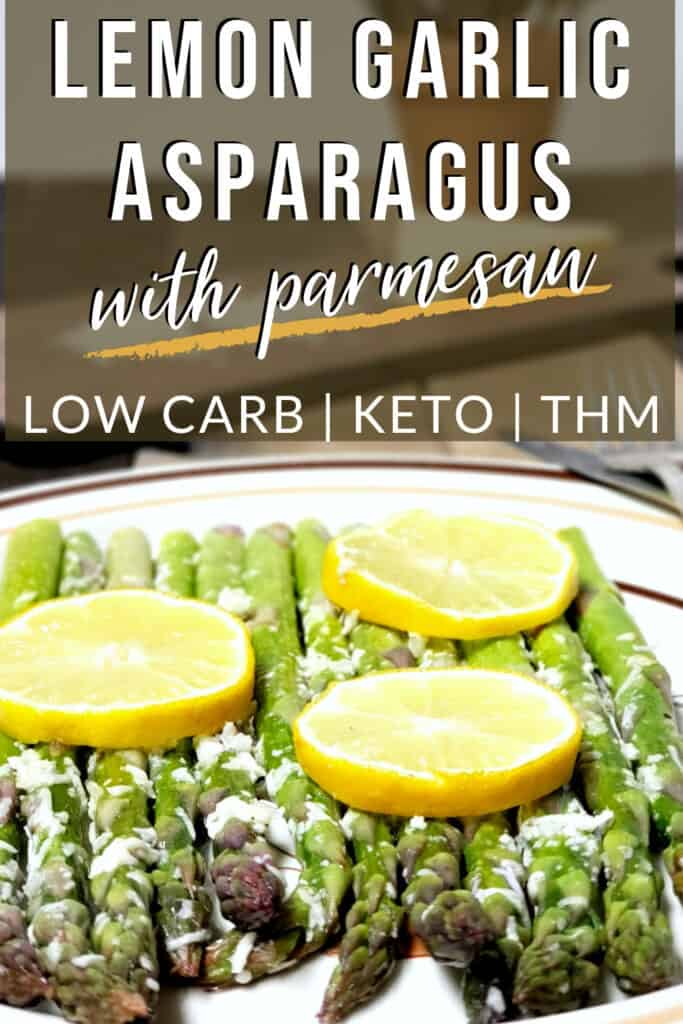Delicious lemon garlic asparagus oven roasted | low carb, keto, THM
