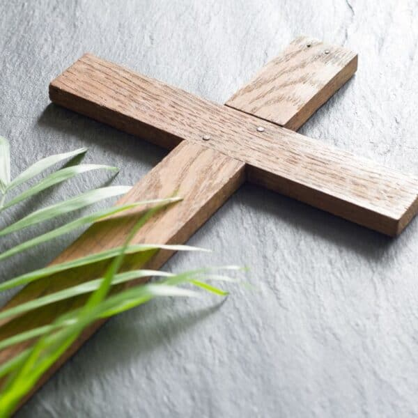 cross and palm for Lent