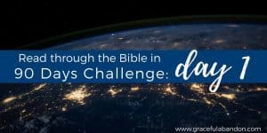 Read through the Bible in 90 Days Challenge Day 1
