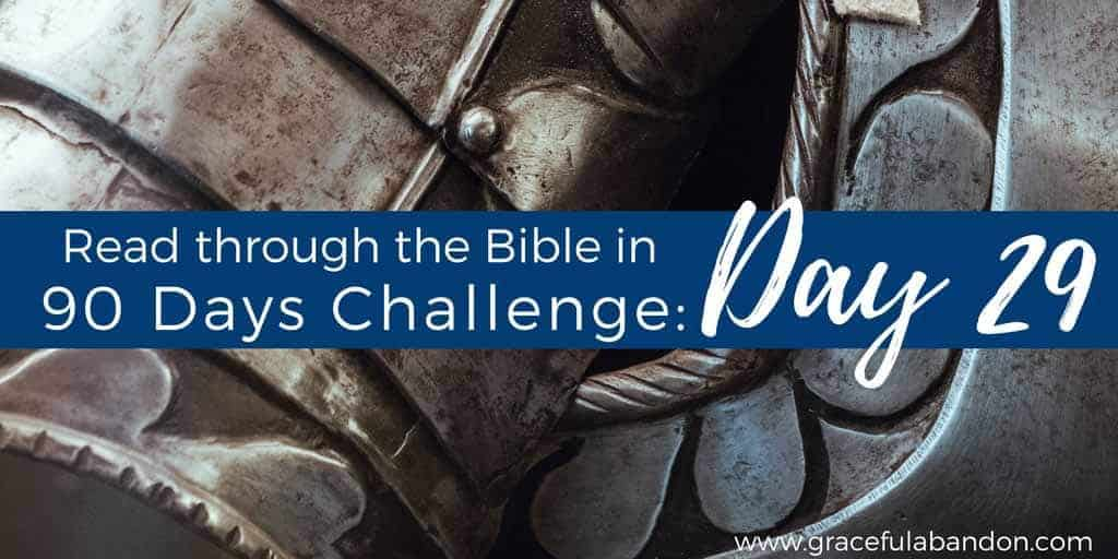 Day 29 of Read the Bible in 90 Days challenge. Secret Weapon for Christian Living.