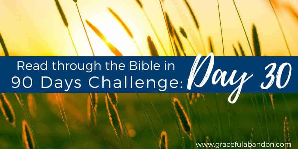Investing in worship; Bible in 90 Days Day 30 devotion