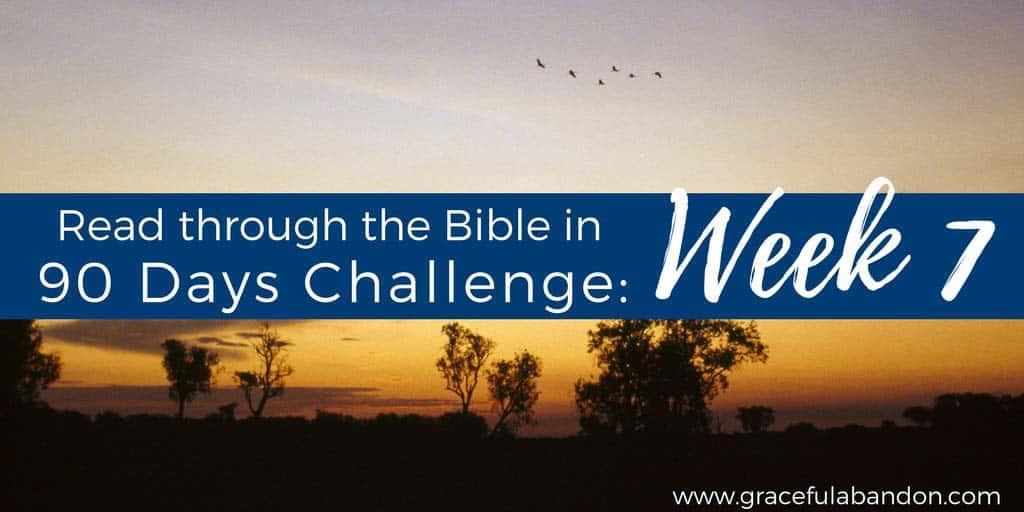 Bible in 90 days week 7 recap