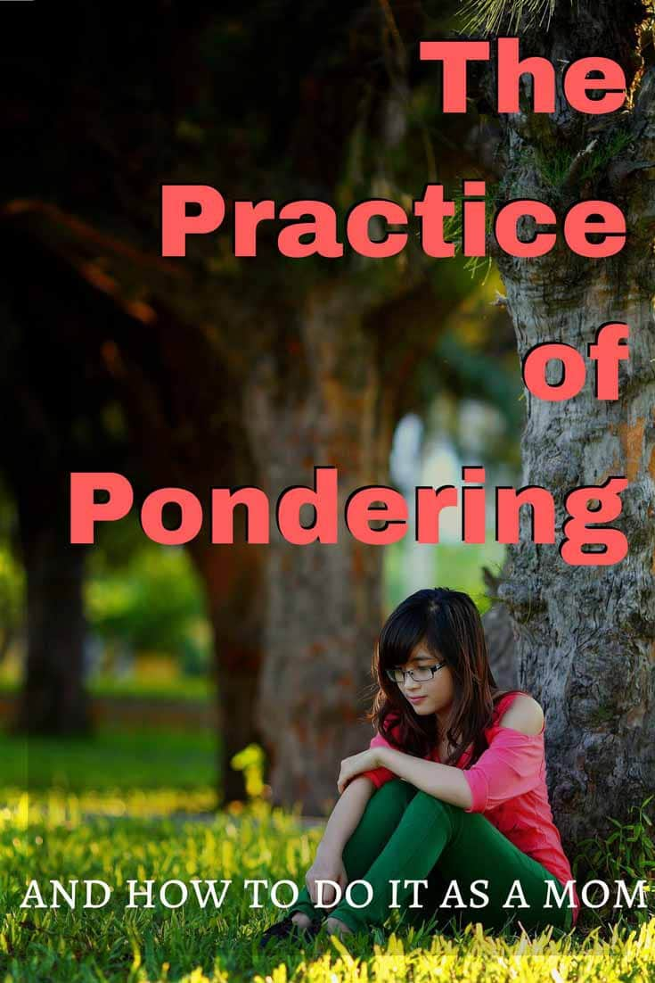 The practice of pondering is one not many women honor. But they should. God chose Mary, a woman who pondered, to parent His Son. We know very little about her, but three different times it was mentioned that she pondered. A look at what she pondered and how you can, too.